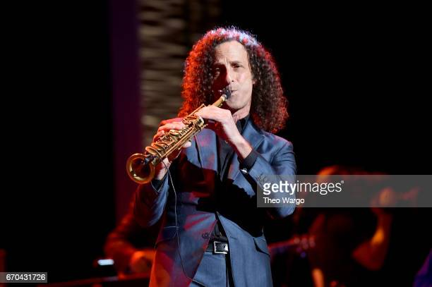 Kenny G performs onstage during the 'Clive Davis The Soundtrack of Our Lives' Premiere Concert during the 2017 Tribeca Film Festival at Radio City...
