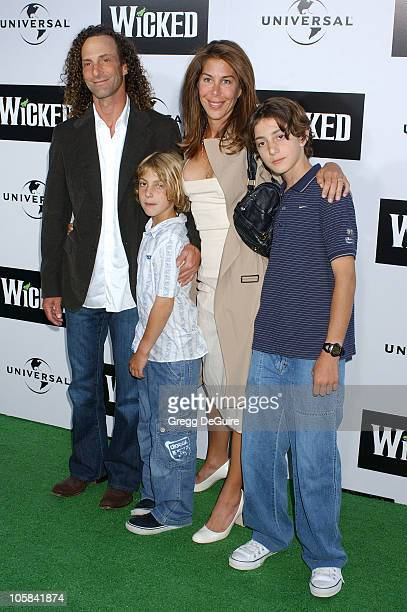 Kenny G wife Lyndie Benson and family during 'Wicked' Los Angeles Opening Night Arrivals at The Pantages Theatres in Los Angeles California United...