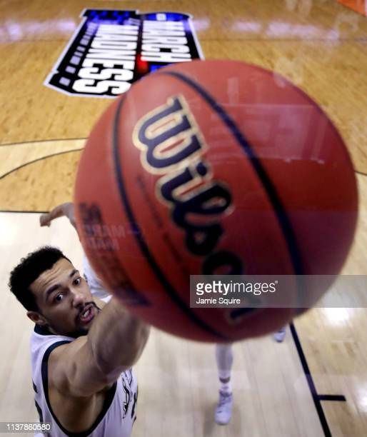 Kenny Goins of the Michigan State Spartans rebound the ball against the Minnesota Golden Gophers during the second half in the second round game of...