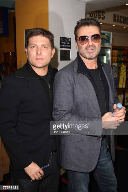 Kenny Goss and George Michael attends the 'Sleuth' Premiere on November 18 2007 in London