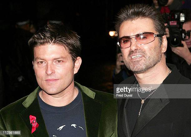 Kenny Goss and George Michael during George Michael's A Different Story Gala London Screening at Curzon Mayfair in London Great Britain
