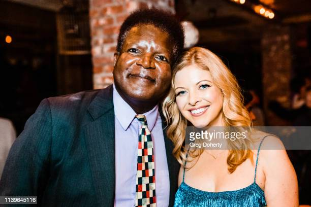 Kenny Hargrove and Hilary Barraford attend Hilary Barraford's Birthday Party held at Madame Siam on April 26 2019 in Los Angeles California