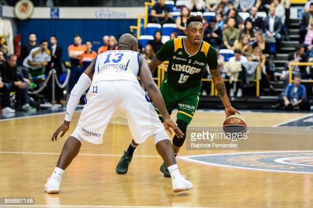 Kenny Hayes of Limoges during the Pro A match between Levallois and Limoges on October 7 2017 in LevalloisPerret France