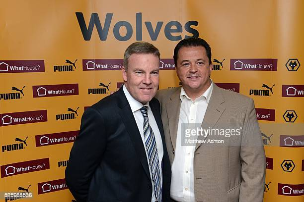Kenny Jackett is unveiled as the new head coach of Wolverhampton Wanderers Football Club From left is Kenny Jackett and chief executive Jez Moxey