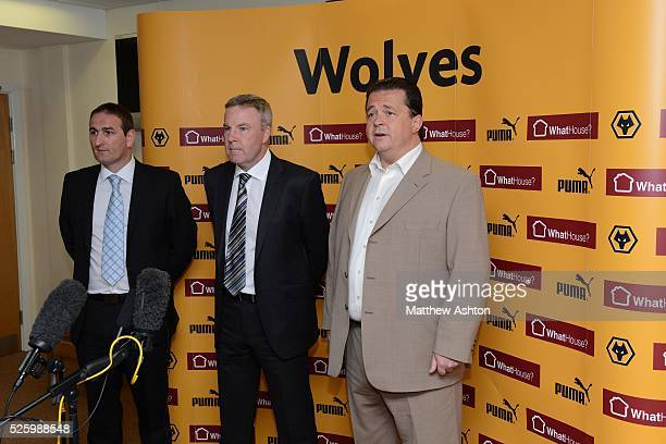 Kenny Jackett is unveiled as the new head coach of Wolverhampton Wanderers Football Club From left is head of football development Kevin Thelwell...