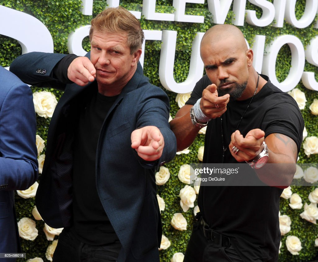 Kenny Johnson and Shemar Moore arrive at the 2017 Summer TCA Tour - CBS Television Studios' Summer Soiree at CBS Studios - Radford on August 1, 2017 in Studio City, California.