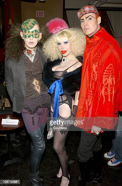 Kenny Kenny Amanda Lepore and Patrick McDonald during Patrick McDonald Host's Premiere Party for Artist Olan's 'Downtown Elite Portrait Series' at...