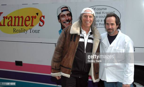 Kenny Kramer and Larry Thomas during Larry Thomas Visits Kenny Kramer's Reality 'Seinfeld' Tour in New York City at Larry Thomas Seinfeld's Soup Nazi...