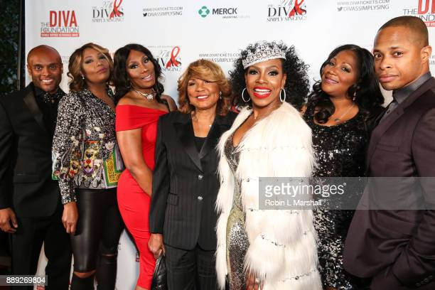Kenny Latimore, Traci Braxton, Towanda Braxton, Evelyn Braxton, Sheryl Lee Ralph, Trina Braxton and Cornelius Smith Jr. Attend Sheryl Lee Ralph's...