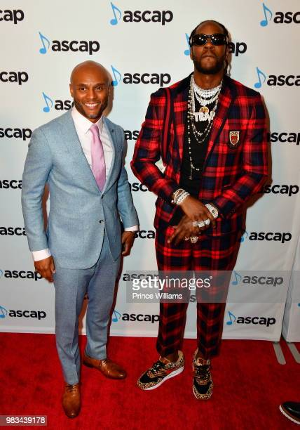 Kenny Lattimore and 2 Chainz attend the 31st Annual Rhythm and Soul Music Awards Arrivals at the Beverly Wilshire Four Seasons Hotel on June 21 2018...