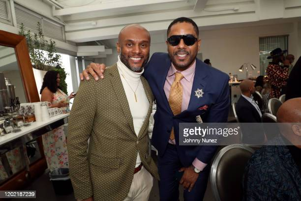 Kenny Lattimore and BJ Coleman attend the Bryan Michael Cox 16th Annual Music And Memory PreGrammy Brunch 2020 at SLS Hotel on January 26 2020 in...