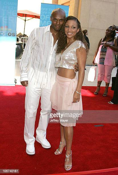 Kenny Lattimore and Chante Moore during 2005 BET Awards Arrivals at Kodak Theatre in Hollywood California United States