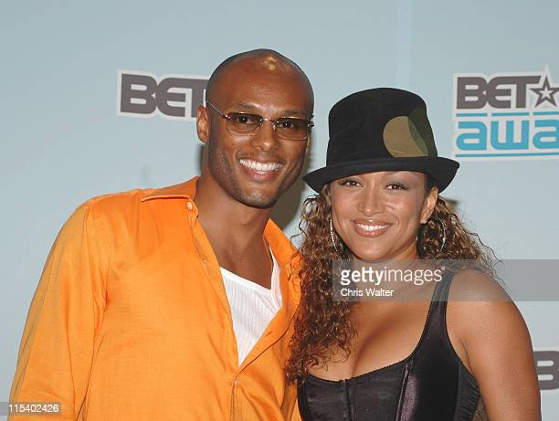 Kenny Lattimore and Chante Moore during 2005 BET Awards Media Room Day 1 at Kodak Theatre in Hollywood California United States