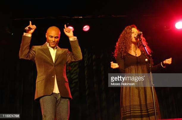 Kenny Lattimore and Chante Moore during Kirk Franklin and the Children's Defense Fund Presents Imagine Me AllStar Celebrity Concert at Gaylord...