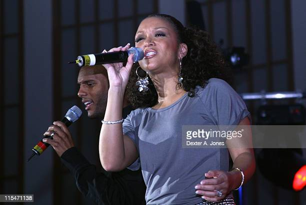 Kenny Lattimore and Chante' Moore during The Fred Hammond Tour featuring Chante' Moore and Kenny Lattimore April 15 2007 at First Cathedral Church in...