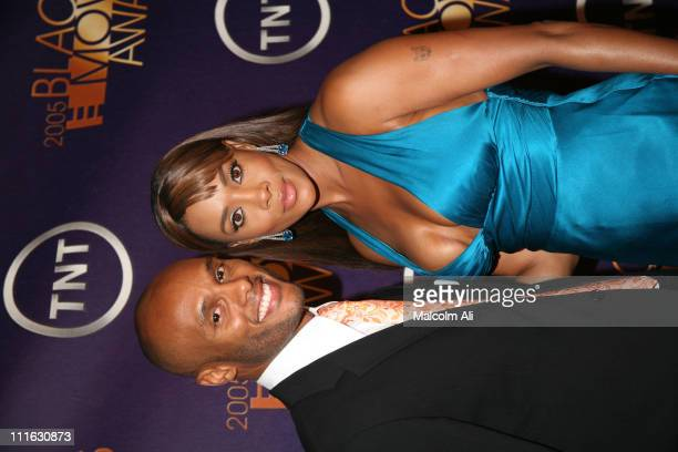Kenny Lattimore and Vivica A Fox during 2005 TNT Black Movie Awards Arrivals at The Wiltern in Los Angeles California United States