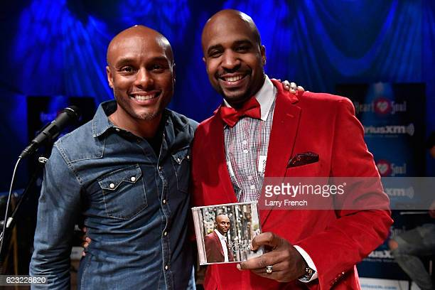 Kenny Lattimore appears on SiriusXM Heart Soul Up Close and Personal hosted by Cayman Kelly on November 14 2016 in Washington DC