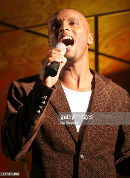 Kenny Lattimore during Groovevoltcom Presents Kenny Lattimore and Chante Featuring Jeremiah Sponsored by Azzure and Hypnotic at Gyspy Tea Room in New...