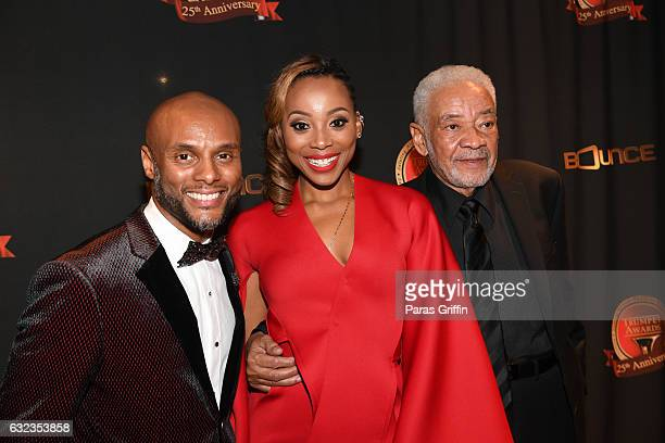 Kenny Lattimore Erica Ash and Bill Withers attends 25th Annual Trumpet Awards at Cobb Energy Performing Arts Center on January 21 2017 in Atlanta...
