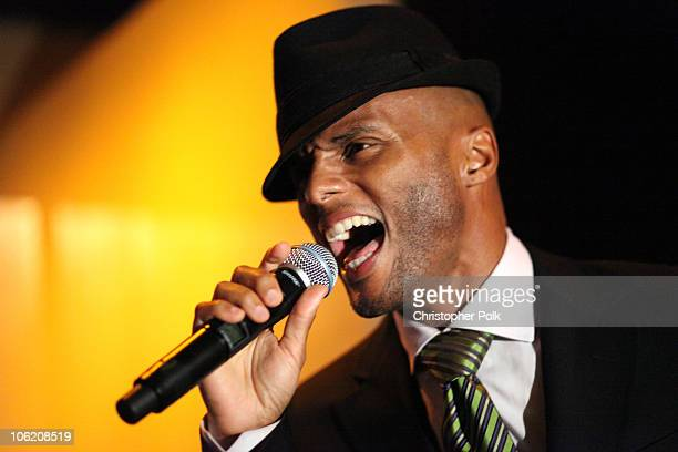 Kenny Lattimore performs during TONYS Grand Opening Benefit for Childrens Hospital Los Angeles at TONYS in West Hollywood CA on February 5 2009