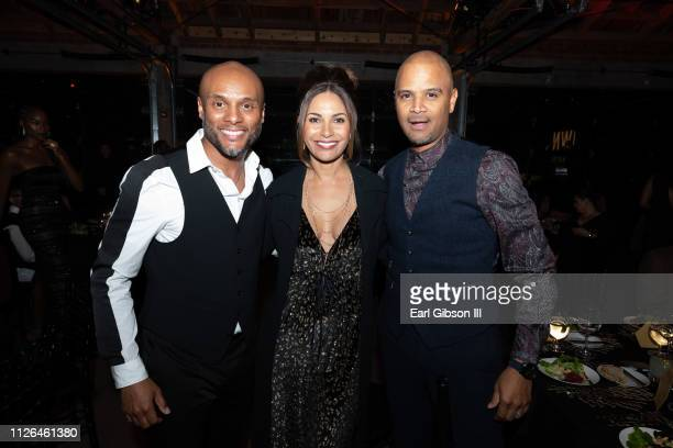 Kenny Lattimore Salli Whitfield and Dondre Whitfield at City Market Social House on February 20 2019 in Los Angeles California