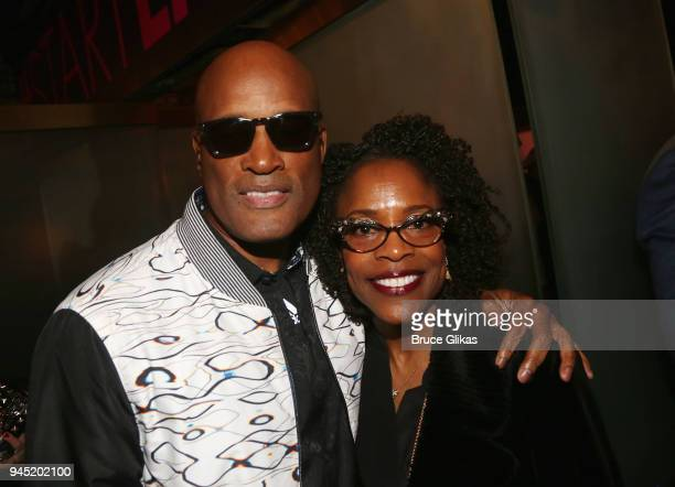 Kenny Leon and Charlayne Woodard pose at the opening night of the play Children of a Lesser God on Broadway at Studio 54 on April 11 2018 in New York...