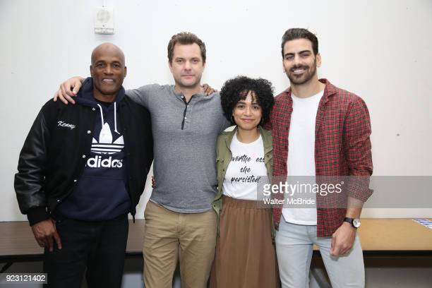 Kenny Leon Joshua Jackson Lauren Ridloff and Nyle DiMarco attends the cast photo call for the Broadway Revival of 'Children of a Lesser God' on...