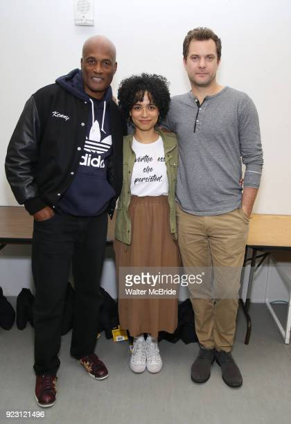 Kenny Leon Lauren Ridloff and Joshua Jackson attend the first rehearsal and cast photo call for the Broadway Revival of 'Children of a Lesser God' on...