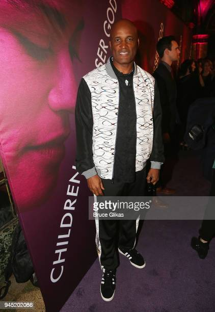 Kenny Leon poses at the opening night of the play Children of a Lesser God on Broadway at Studio 54 on April 11 2018 in New York City