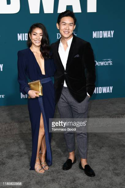 Kenny Leu and Masumi attends the Premiere Of Lionsgate's Midway at Regency Village Theatre on November 05 2019 in Westwood California