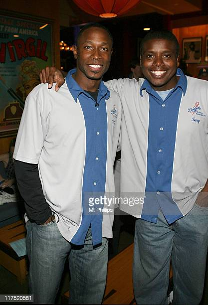 Kenny Lofton and Tony Todd during Eric Gagne LA Dodgers Dream Foundation Bowling Extravaganza at Lucky Strike May 8 2006 at Lucky Strike Lanes in Los...