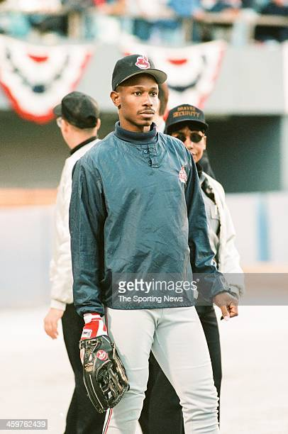 Kenny Lofton of the Cleveland Indians during Game One of the World Series against the Atlanta Braves on October 21 1995 at AtlantaFulton County...