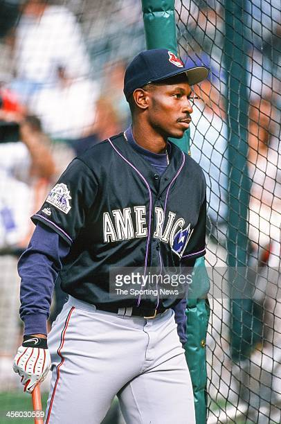 Kenny Lofton of the Cleveland Indians during the All-Star Game on July 7, 1998 at Coors Field in Denver, Colorado.