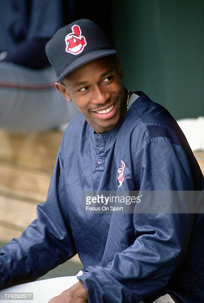 Kenny Lofton of the Cleveland Indians looks on during batting practice before an Major League Baseball game against the Baltimore Orioles circa 1994...