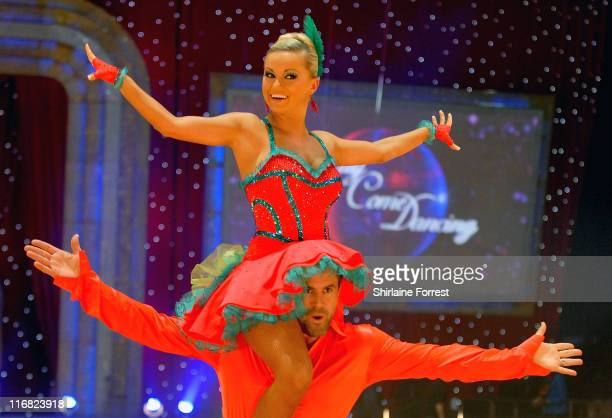 Kenny Logan and dance partner Ola Jordan attend the Strictly Come Dancing The Live Tour photocall at Manchester Evening News Arena on January 21 2009...