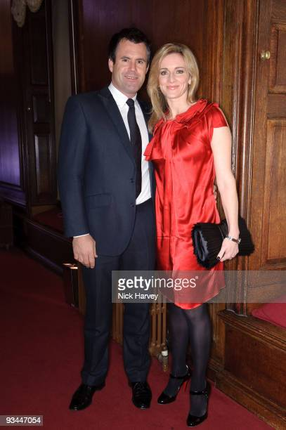 Kenny Logan and Gabby Logan attend gala dinner in aid of the 2008 Mumbai terror victims hosted by the DVK Foundation at Kensington Palace on November...