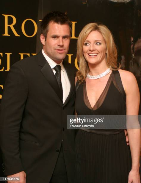 Kenny Logan and Gabby Logan during Royal Television Society Television Sports Awards 2004 at London Hilton Park Lane London in London England Great...