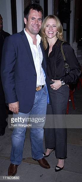 Kenny Logan and Gaby Logan during Gabby Logan and Katie Derham Sighting at Leon in London September 29 2005 at Leon Restaurant in London Great Britain