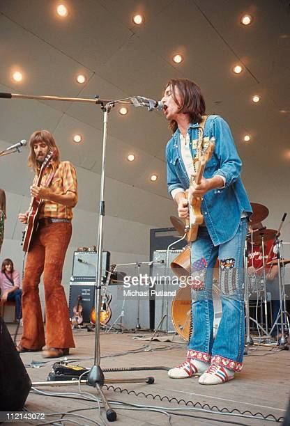 Kenny Loggins and Jim Messina, Loggins And Messina, perform on stage, Crystal Palace, London, 29th July 1972.