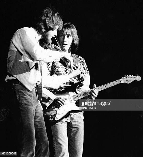 Kenny Loggins and Jim Messina perform in concert at the Universal Amphitheatre September 13 1976