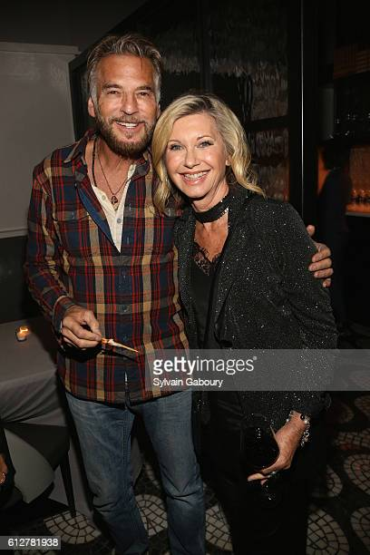 Kenny Loggins and Olivia Newton John attend HBO Presents the New York Red Carpet Premiere of 'Divorce' After Party at La Sirena on October 4 2016 in...