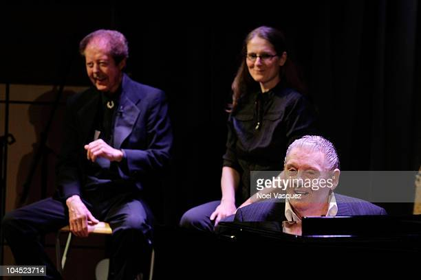 Kenny Lovelace Phoebe Lewis and Jerry Lee Lewis attend 'An Evening With Jerry Lee Lewis' at The Grammy Museum on September 28 2010 in Los Angeles...