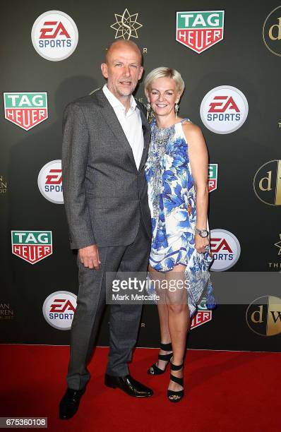 Kenny Lowe and Nikki Lowe arrive ahead of the FFA Dolan Warren Awards at The Star on May 1 2017 in Sydney Australia