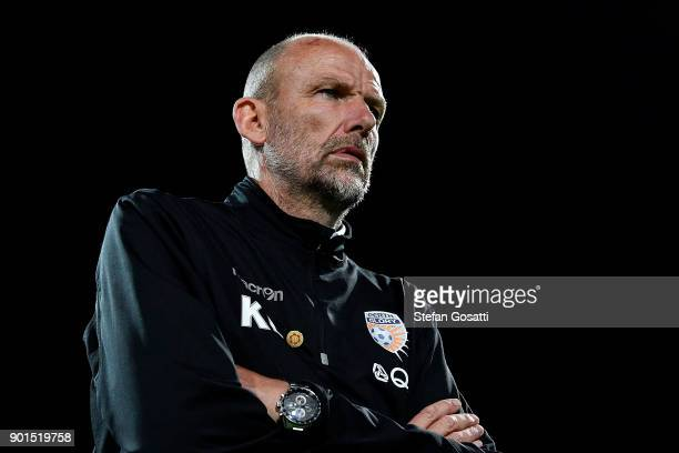 Kenny Lowe coach of Perth Glory during the round 14 ALeague match between the Perth Glory and Adelaide United at nib Stadium on January 5 2018 in...