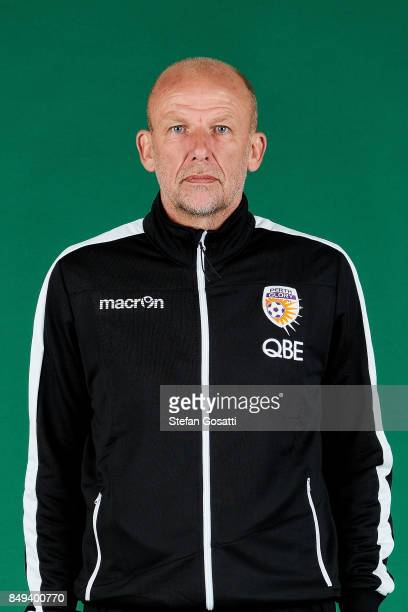 Kenny Lowe poses during the Perth Glory 2017/18 ALeague season headshots session on September 15 2017 in Perth Australia