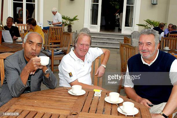 Kenny Lynch Dennis Waterman and John Virgo at the SPARKS Rick Wakeman Golf Day held at Burhill Golf club Hersham 11th August 2006 Job 14154