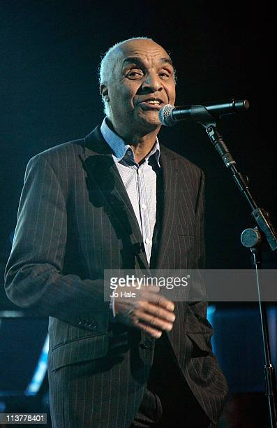 Kenny Lynch of The Drifters performs for Dusty a Tribute at Royal Albert Hall on May 5 2011 in London England