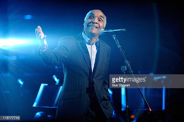 Kenny Lynch performs on stage during 'For Dusty A Tribute' concert in aid of MacMillan Cancer Support at Royal Albert Hall on May 5 2011 in London...