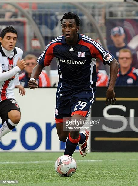 Kenny Mansally of the New England Revolution dribbles during SuperLiga Group B match against Atlas June 28 2009 at Gillette Stadium in Foxborough...