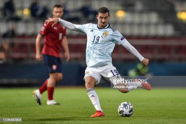 Kenny McLean of Scotland in action during the UEFA Nations League soccer match between Czech Republic and Scotland in Olomouc, Czech Republic on...